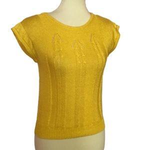 Vintage 80s mustard Koret cute summer sweater